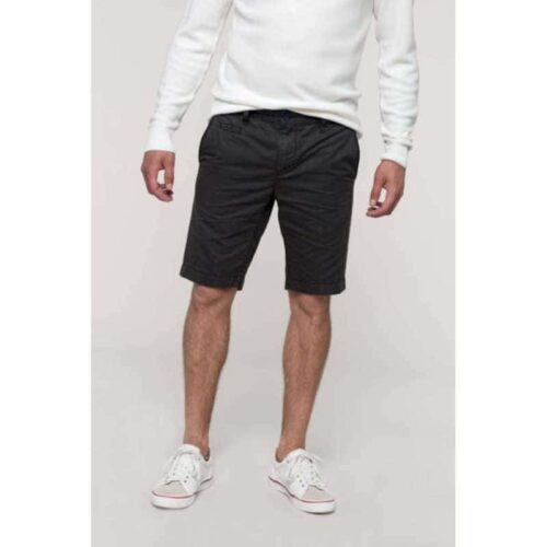 MEN'S WASHED EFFECT BERMUDA SHORTS