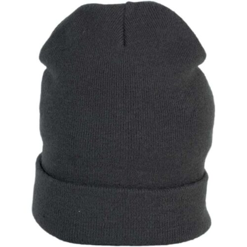 SILK BEANIE WITH TURN-UP