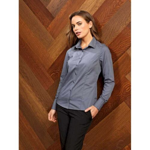 LADIES' LONG SLEEVE FITTED 'FRIDAY SHIRT'