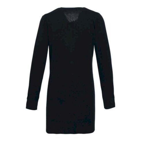 LADIES' LONG LINE KNITTED CARDIGAN