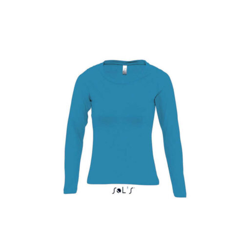 MAJESTIC WOMEN'S ROUND COLLAR LONG SLEEVE T-SHIRT